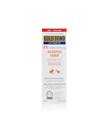 Gold Bond<sup>®</sup>  Ultimate 1% Hydrocortisone Eczema Relief Cream Intensive Formula