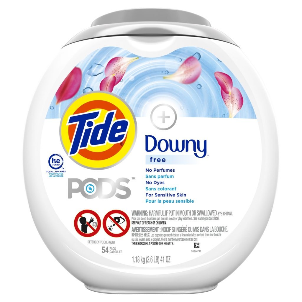 Tide® + Downy® PODS™ Free & Gentle™ Laundry Detergent