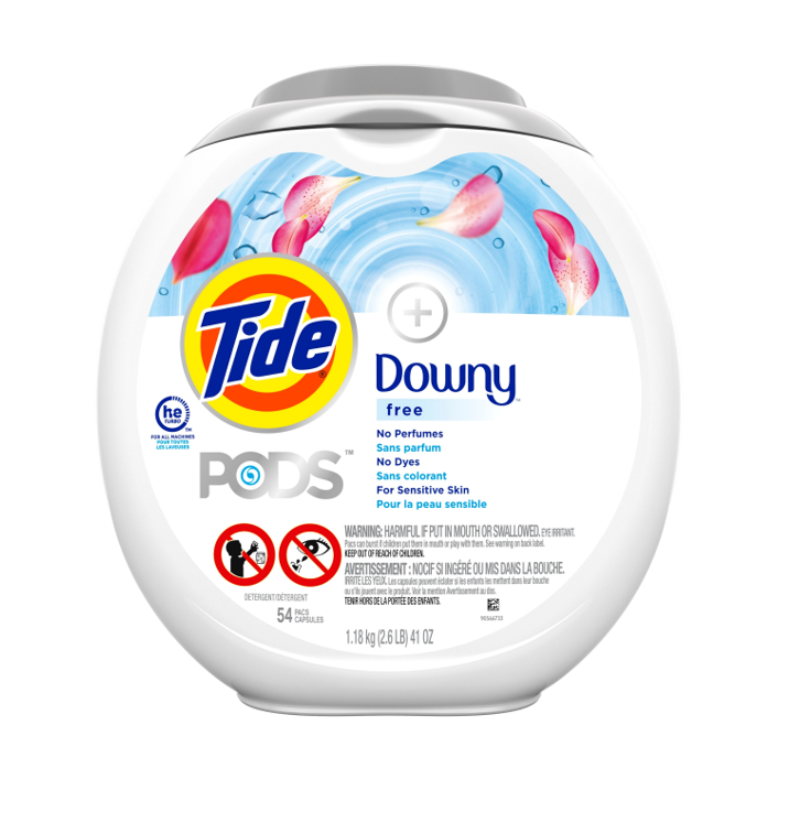 Tide<sup>®</sup> + Downy<sup>®</sup> PODS™ Free & Gentle™ Laundry Detergent