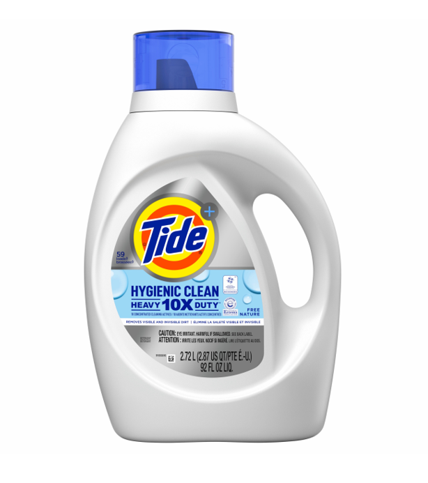 Tide<sup>®</sup> Free & Gentle™ Hygienic Heavy Duty Liquid Laundry Detergent